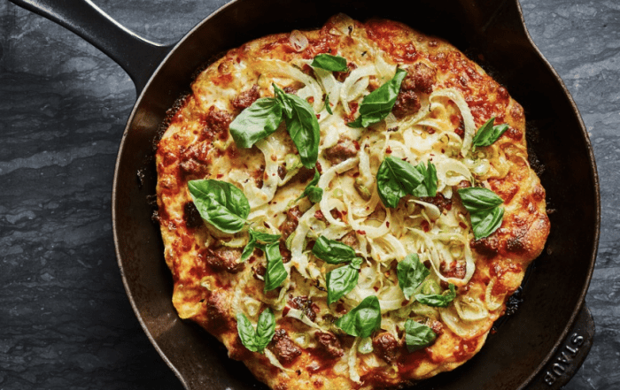 Cast Iron Skillet Pizza Recipe